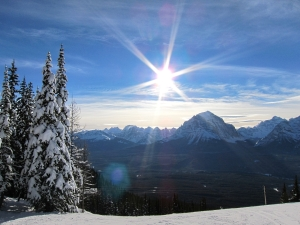 High on the piste at Lake Louise