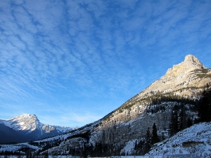 On the way to Grotto Canyon near Canmore