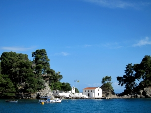 The nest stops were Parga, Paxos and Corfu where between squally thunder showers of early summer the sea was mirror-smooth and Greek-blue.