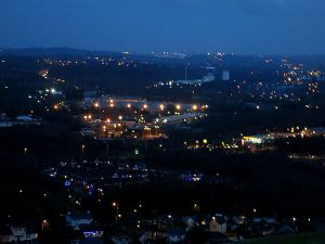... and soon all that can be seen are the lights of the urban area to the south