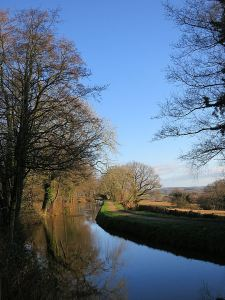 The walk began alongside the Monmouthshire  and Brecon Canal in reflective mode