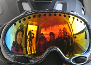 Time for reflection riding up in the gondola