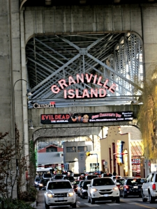 Jammed traffic trying to get into Granville Island