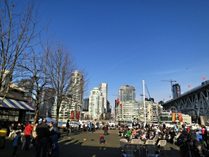 The Food Market concourse looking across False Creek