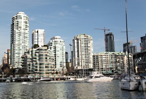Looking across the Yaletown