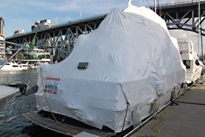 Some of the boats are shrink-wrapped !!!