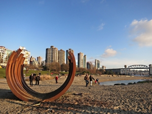 One of the many sculptures around Vancouver