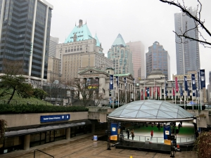 Ice rink at the University, one of the very few places open Downtown on Family Day