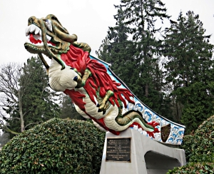Figurehead from 19th Century Japanese merchant ship trading between the Canadian Pacific coast and Japan