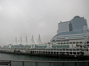Exhibition Centre East at Canada Place, built to represent an ocean liner .... and all closed up on Family Day