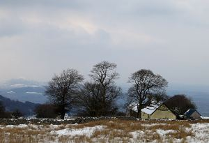 The highest farm on the ridge: it must be very bleak living up here in winter