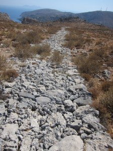 The Italian Path across the top of the mountain between Pothia and Vathys