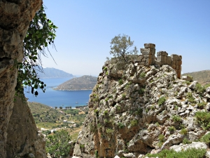 The 'Kastri' above Emborios, ancient fortress built into the crags