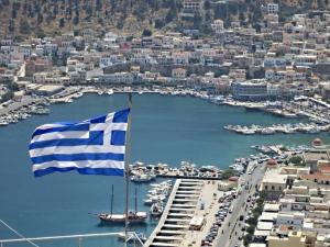 Pothia, a very Greek harbour