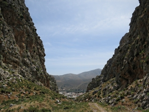 The narrow part of the gorge, Chora below