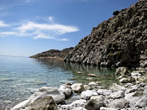 Peace and quiet on the beach at Lapathos Bay