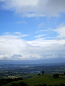 Brief glimpse of blue sky