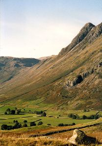 Langdale in the Lake District, taken many years ago with a film camera and scanned in to the computer.