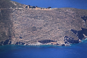 Looking from the top to the start of the coast path, Agios Ioannis
