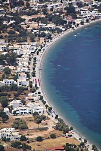 Looking straight along Livadia beachfront