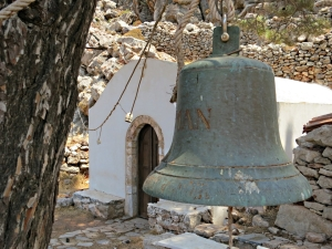 Agios Pavlos and the large bell, engraved 'Turceman',