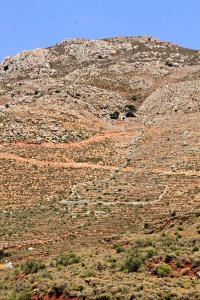 looking towards Agios Pavlos and the top of the mountain