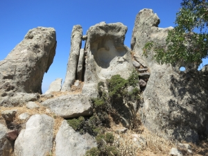 The pinnacles at the highest point