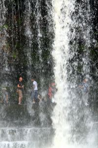 The constantly falling water  is hypnotic, creating a dreamscape