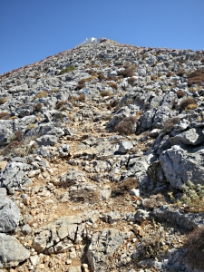 The last section up to the monastery on the summit