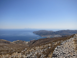 The top of the stone-paved Italian Path heading towards Pothia