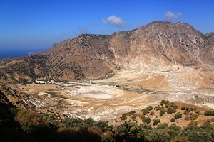 From the top of the path  to the crater from Nikia,