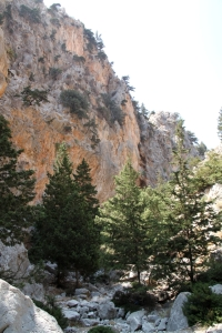 The bottom end of the Vasilios Gorge