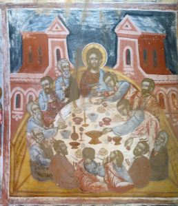The Last Supper, one of the many very well preserved frescoes