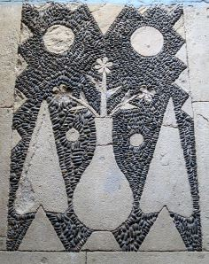Part of the Hochlakos pebble-mosaic floor