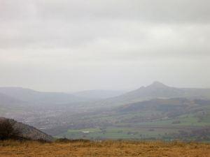 The Skirrid, hazy in the murk