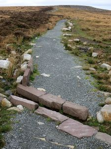 The improved path from the car park to the trig point on The Blorenge
