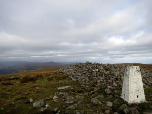 At the top, looking north to The Sugar Loaf, The Skirrid just out of sight