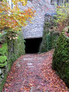 The tunnel underneath the house and the canal