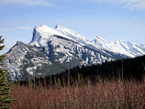 Mount Rundle seen across the Marsh Loop