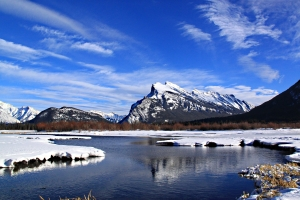 ..... reflecting Mount Rundle