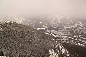 Looking over Banff