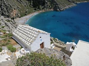 Lapathos beach far below Agios Vasilios