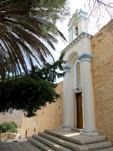 The imposing entrance to the inner compound of Roukouniotis monastery