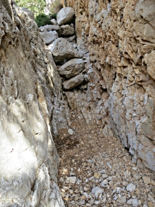 .... then it gets pinched by rock walls barely shoulder-width apart