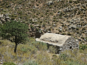 The long-abandoned chapel of 'Panagia' in the middle of nowhere