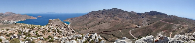 Panorama from the crag behind the castle