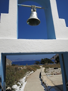 Reaching the chapel behind the beach