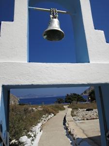 Reaching the chapel behind the beach