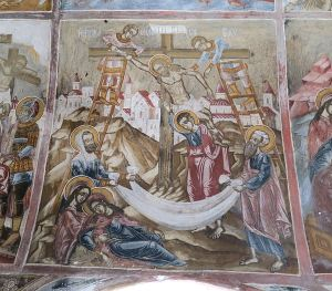 One of the many frescos, nearly 300 years old