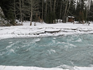 Rapids on the Spray, usually frozen by now